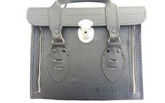 Gadget Bag Kali Bag Black Red Interior vintage Kali Bag leather camera case #KaliBag