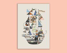Tall ship Giclée print A3   Etsy