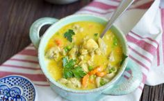 Ukrainian cooking: Curry Chicken Soup