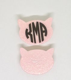 Pink Kitty Pin For Your Hat Coat Shirt by TheTwistedCrafts on Etsy