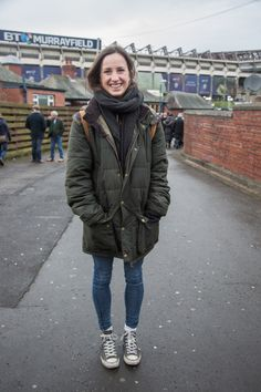 'We caught Georgie wrapping up in her baffle quilted Barbour jacket for a day in…