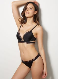 Paphos Tanga Bikini Briefs - Black Mix | Boux Avenue