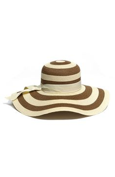Nordstrom stripe straw hat $28