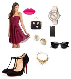 """""""Untitled #2"""" by samira-dedic ❤ liked on Polyvore featuring Christian Louboutin, MCM, Kate Spade, Oscar de la Renta, Ted Baker, women's clothing, women, female, woman and misses"""