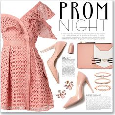 The Perfect Prom Night by myduza-and-koteczka on Polyvore featuring moda, self-portrait, M. Gemi, Karl Lagerfeld, Accessorize, Marchesa and Anja