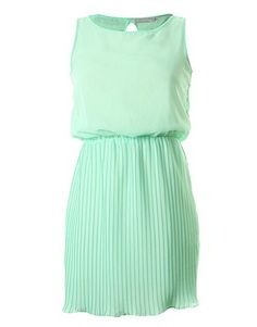 ASOS Fashion Finder | LOVE Mint Pleat Gathered At The Waist Dress