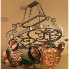 Neo Hanging Pot Rack 2nd Avenue Lighting Hanging Pot Racks Pot Racks Kitchen #5thWaLL