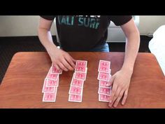 This is a very cool easy magic trick that anyone can do, and depending on how good you are, you can add or take off the sleight of hand at the end of the tri. Easy Magic Card Tricks, Magic Tricks Videos, Learn Magic, Sleight Of Hand, Magic Cards, Diy Crafts For Gifts, Earn Money From Home, Cool Cards, Party Games