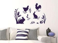 #Wandtattoo #Ostern Ostern Motive mit Hase Huhn Hahn und Mäusen #Osterdeko