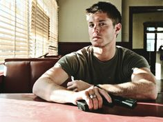 Jensen photoshoot #JensenAckles #withagun
