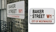 Baker Street Sign.  Would love to hang this in my future office