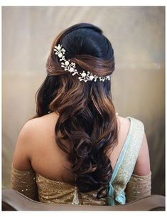 Hairstyles For Gowns, Open Hairstyles, Indian Wedding Hairstyles, Party Hairstyles, Bride Hairstyles, Mehndi Hairstyles, Beautiful Hairstyles, Front Hair Styles, Medium Hair Styles