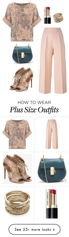 """""""Romance."""" by lmay0319 on Polyvore featuring WearAll, Fendi, Alaïa, Chloé, Sole Society, Dolce&Gabbana and plus size clothing"""