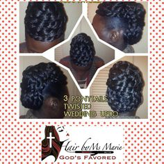 Hair By Ms Marie God's favored- Updo styles on natural hair 2               #HairByMsMarieGodsFavored