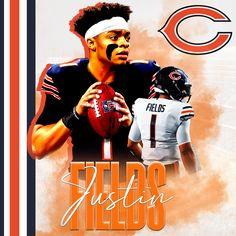Chicago Bears Wallpaper, Chicago Bears Pictures, Justin Fields, Football Art, Nfl Jerseys, Sport, Jersey Shirt, Photoshop Ideas, Adobe Photoshop