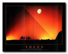 FOCUS Motivational Sunset Office Quotes Wall Decor Art Pr...…