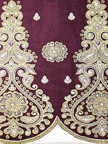 Empire Textiles African Georges - Velvet George PLM - Plum PRICE - £80.00