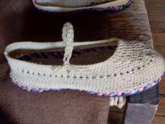 sandalias a crochet   Artesanías a Mano: Tejido de zapatos a crochet