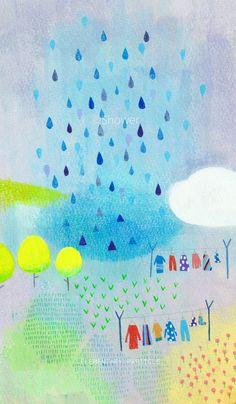 「とおり雨」スマホケース