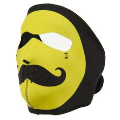 Neoprene Full Face Mask - Smiley Mustache OSFM