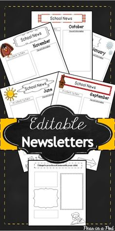 Editable Newsletter Templates (12 included): Seasonal Themes. Make parent contact a breeze with these super simple classroom newsletters!