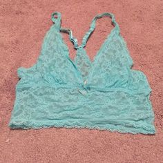 VS lace bra VS mint lace bralette. Never worn. Still has tags. Victoria's Secret Intimates & Sleepwear Bras