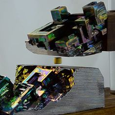 Bismuth Crystals Hold Magnet Suspended for 100 Years