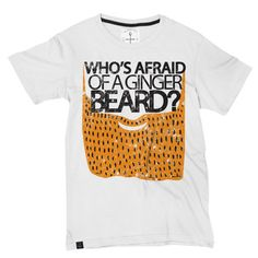 Gingerbeard Tee White, $28, now featured on Fab.