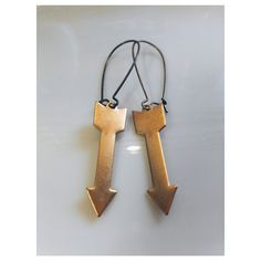follow me arrow earrings by SuperFantasticJulie on Etsy, $10.00