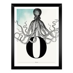 Buchstabe O wie Oktopus - ein & alles Wandkunst für Kinder Art Prints, Paper, Letter F, Name Day, Octopus, Great Gifts, Animals, Kids, Nice Asses