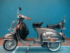 Terjual Vespa PTS 100cc Full Aksesoris Mulus warna Steel Grey | KASKUS Vespa Motor Scooters, Vespa Motorcycle, Lambretta Scooter, Vintage Vespa, Vintage Bikes, Vespa Smallframe, Classic Vespa, Italian Scooter, Concept Motorcycles