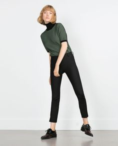 TROUSERS WITH SIDE ZIP-View All-TROUSERS-WOMAN | ZARA United States