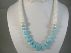 Kumihimo and sea glass necklace by PalmTreeBeads on Etsy