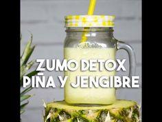 Zumo Detox de Piña y Jengibre - Recetas de Cocina Casera - Recetas fáciles y sencillas