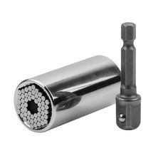 2pcs/set New As seen on tv multi-function Gator GRIP HAND TOOL Universal Socket Wrench Power Drill Adapter