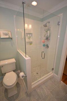 60 Luxury Small Bathroom Shower Remodel Ideas - Page 12 of 63 Bathroom Layout, Bathroom Renos, Bathroom Renovations, Bathroom Cabinets, Bathroom Mirrors, Bathroom Makeovers, Bathroom Faucets, Small Bathroom Remodeling, Bathroom Remodelling