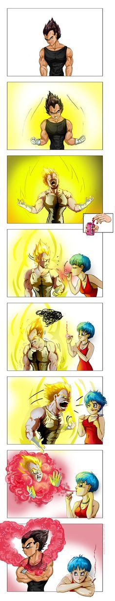 Another comic experiment, no text, just expressions! I'm not really sure if a saiyan's ki actually burns, but, in this case, it seems to work! The title is a quote from a classic song, Fever by Lit...