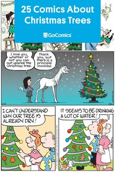 Enjoy these 25 holiday-themed comic strips about Christmas trees. Funny Christmas Tree, Christmas Comics, Christmas Snowman, Christmas Humor, Love You, My Love, Comic Strips, The Funny, Dream Wedding