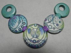Julie Picarello's bubble necklace from Sculpey ~ Polymer Clay Tutorials