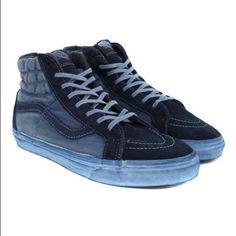 d0a30f111c7a8c Vans Sk8-Hi Reissue CA Over Washed in Dress Blues