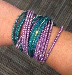 Ariel inspired swarovski slake bracelets