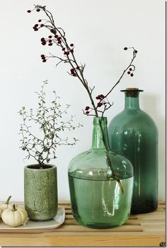 Bo med planter ::: Kig med i privaten - Meltdesignstudio Green Accents, Home Accents, Dining Room Inspiration, Wood Interiors, Ikebana, New Room, All The Colors, Flower Pots, House Warming