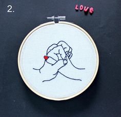 Love hands embroidery hoop. home decor