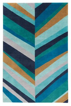 Sybil Lines Blue by Jonathan Adler for The Rug Company