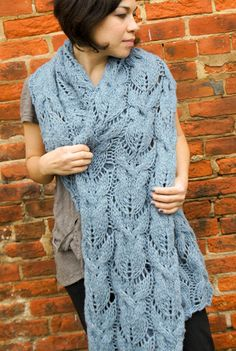FREE knitting pattern! Cabled & Lace Muffler by Imperial Yarn. Download at LoveKnitting