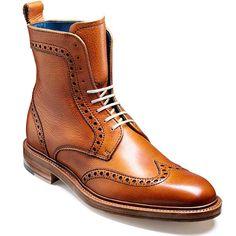Barker Shoes – Hockney Brogue Boot – Cedar Grain