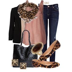 """Leopard print"" by coombsie24 on Polyvore"