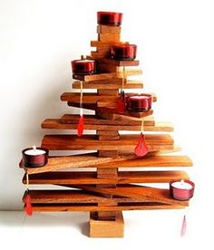 Christmas Tree Made From Pallets - #pallets #christmas