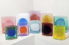 Swiss designer Julie Richoz's new colored glass vases were inspired by Mexico's colorful landscape and made in collaboration with Nouvel Studio. vase Experiments in Colored Glass, Inspired by the Palette of Mexico - Sight Unseen Colored Glass Vases, Most Popular Instagram, Glass Design, Colorful Interiors, Decoration, Color Patterns, Home Accessories, Stained Glass, Glass Art