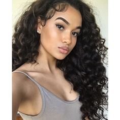 7A Peruvian Lace Front Human Hair Wigs Deep Wavy Glueless Full Lace... ❤ liked on Polyvore featuring beauty products, haircare and hair styling tools